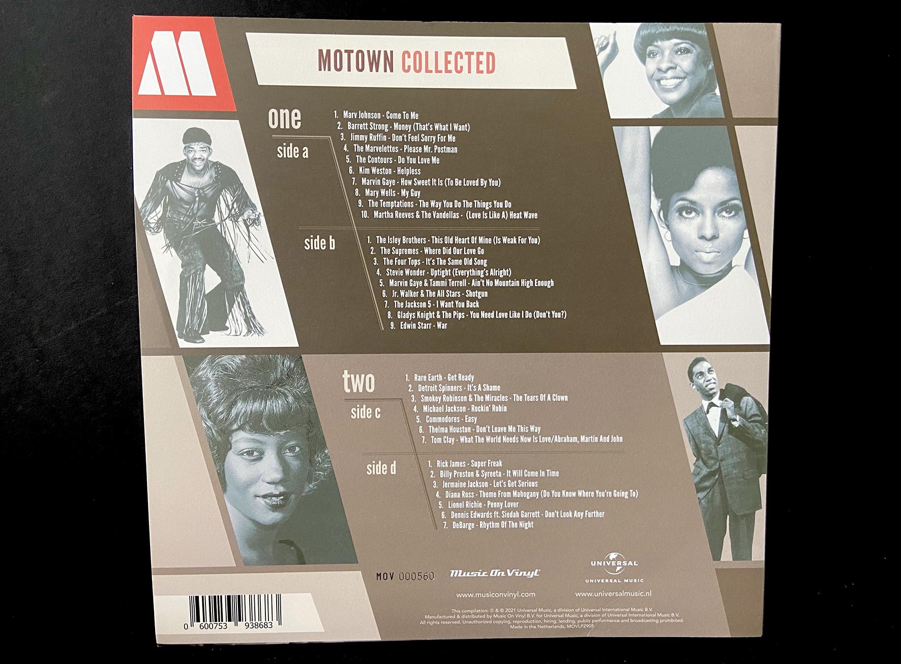 Motown Collected | Sleeve back | Nathan van der Veer